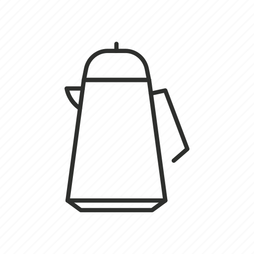appliance, coffee, home, kettle, outline, pot, tea icon