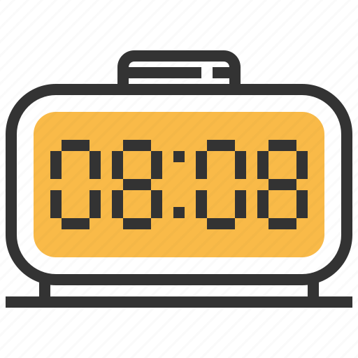 clock, digital, stopwatch, timer, watch icon