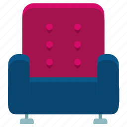 appliance, armchair, chair, furniture, home, interior, livingroom icon