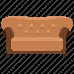 appliance, couch, furniture, home, interior, sofa icon