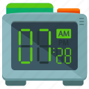 alarm, appliance, clock, digital, home, time icon