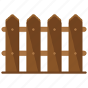 appliance, fence, home, house, wood icon