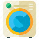 appliance, clothing, equipment, laundry, machine, tool, washing icon