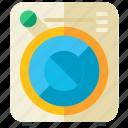 machine, washing, appliance, clothing, equipment, laundry, tool icon