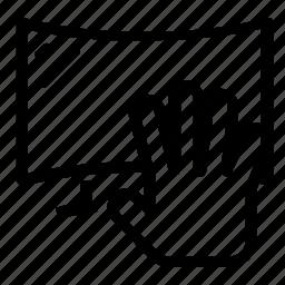hand, telelvision icon