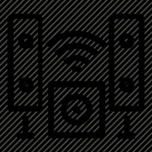 speaker, wireless icon