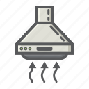 air, appliance, extractor, fan, hood, household, kitchen icon