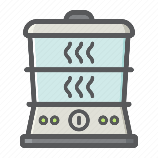 appliance, cooking, electric, food, household, kitchen, steamer icon