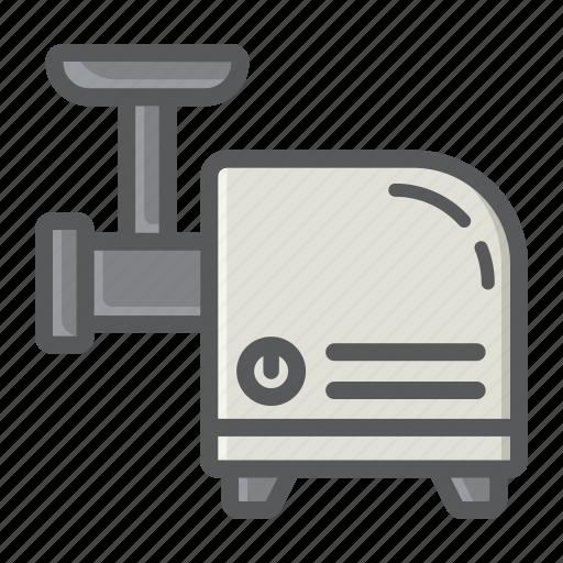 appliance, grinder, household, kitchen, machine, meat icon
