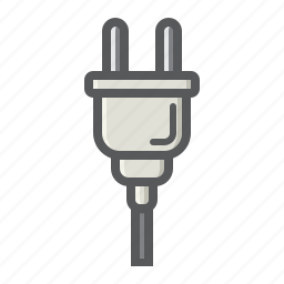 appliance, cable, electric, energy, plug, power, web icon