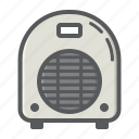 air, appliance, climate, electric, fan, heater, household icon