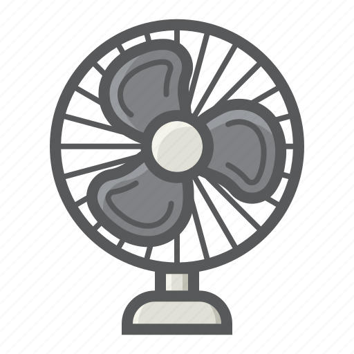air, appliance, blower, electric, fan, household, table icon