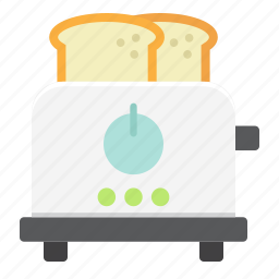 appliance, bread, breakfast, electric, household, kitchen, toaster icon