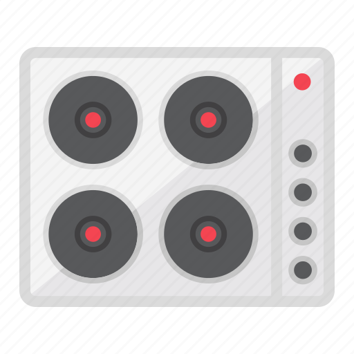 appliance, electric, hot, household, kitchen, plate, stove icon