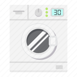 appliance, clear, clothes, household, laundry, machine, wash icon