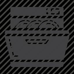 appliance, clean, dishwasher, domestic, household, kitchen, machine icon