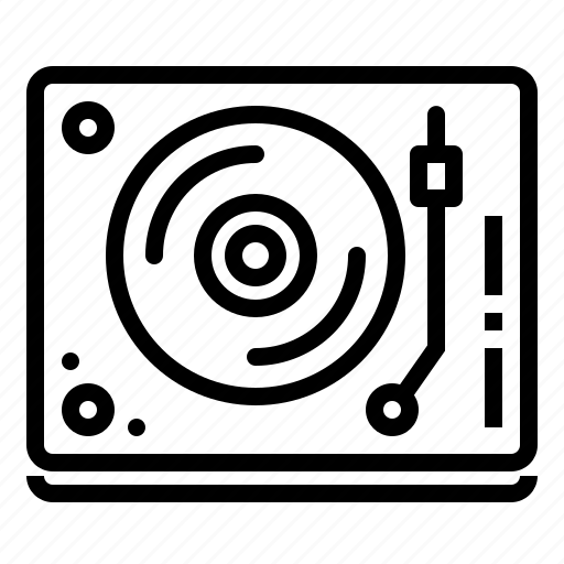 device, music, play, turntable icon