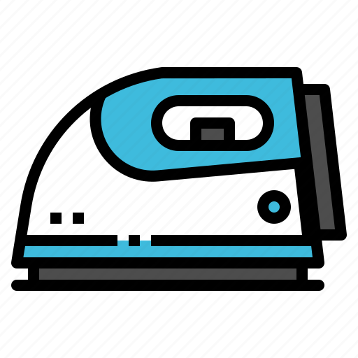 appliances, home, iron, laundry, steam icon