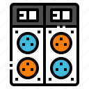 appliances, cable, outlet, plug, power icon