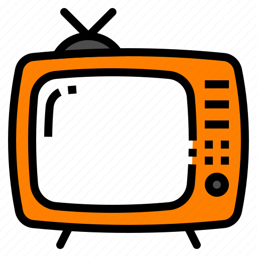 appliances, home, retro, television, tv icon