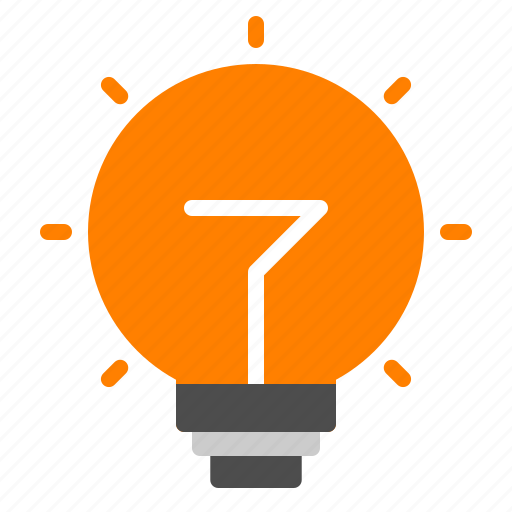 energy, idea, light, lightbulb, power icon