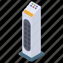 electronic appliance, fan, pedestal fan, stand fan, tower fan icon