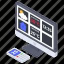 anemometer, meteorological station, weather bureau, weather forecast, weather station icon