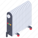 electric heater, electronics appliance, heater, radiator, room heater, warmer icon