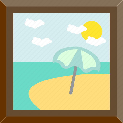 beach, decoration, holiday, summer icon