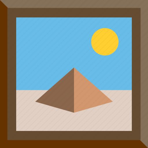 Desert, egypt, egyptian, piramid icon - Download on Iconfinder