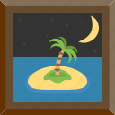 far, isle, lonely, night icon