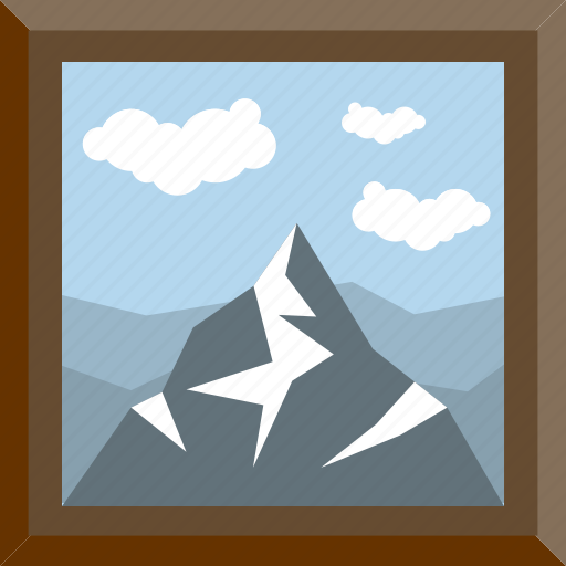 everest, hill, nature view, peak, view icon