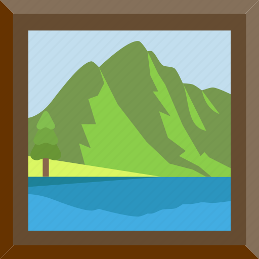 Landscape, nature, panorama, river icon - Download on Iconfinder