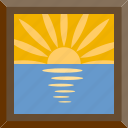 morning, nature, sunrise, sunset icon
