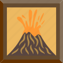eruption, lava, picture, volcano icon