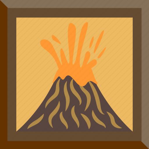 eruption, lava, picture, volcano icon