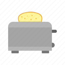bread, breakfast, electric, equipment, food, meal, toaster icon