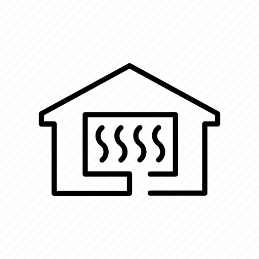 central, electric, heat, heating, home, house, warm icon