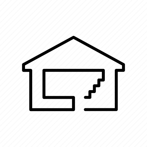 floors, home, house, staircase, stairs, stairway, upstairs icon