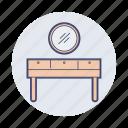 dresser, makeup, mirror icon