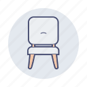 chair, front, furniture, household, seat, sofa
