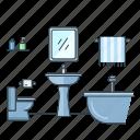bath, bathroom, home, house, interior, real estate, wash basin icon