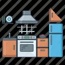 furniture, home, house, interior, kitchen, real estate, stove icon