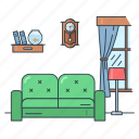 furniture, home, interior, living, real estate, room, sofa icon