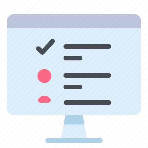 check  computer  list  monitor  task icon