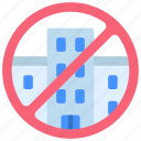 no, office, building, offices, real, estate, prohibited icon