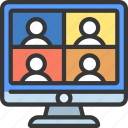 group, call, video, conference, meeting