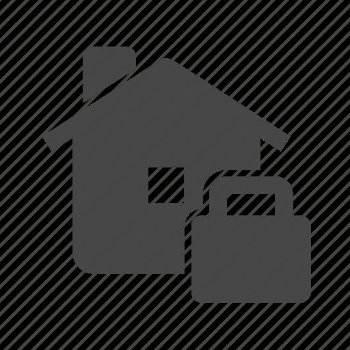 home, house, keyhole, lock icon