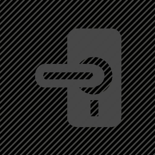 door, door knob, household, knob, open icon