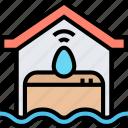 flood, sensor, warning, water, level